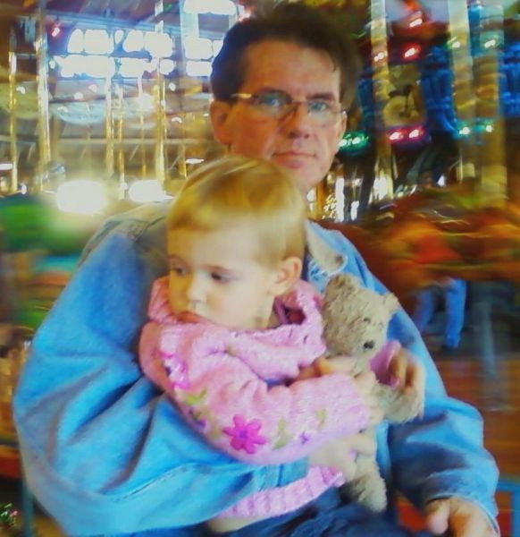 Payton and I at the carousel