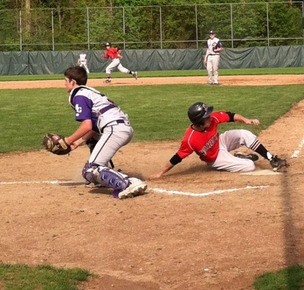 Tates final run in in his final game for his high school team