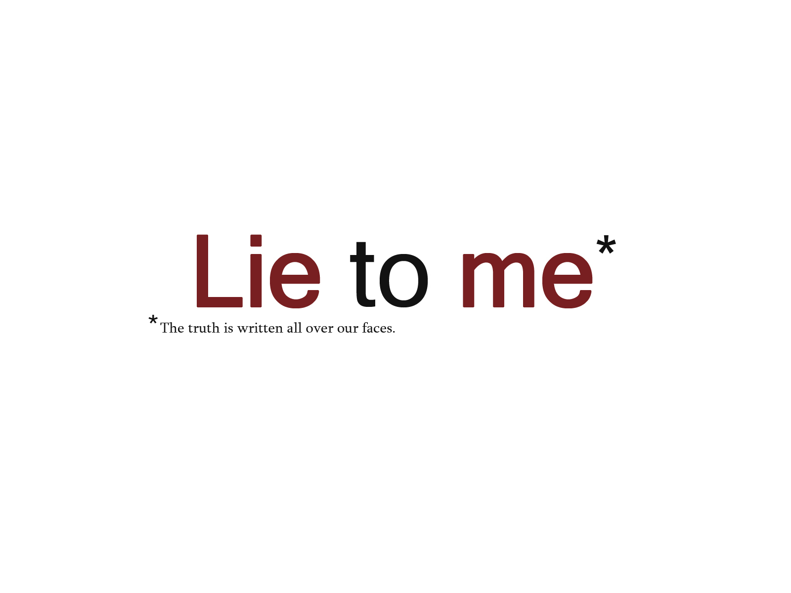 lie to me online