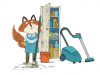 The Little Red Fox - Does Chores